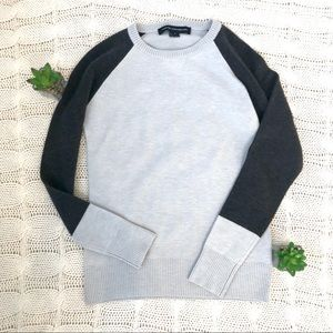 {French Connection} Color Block Crew Neck Sweater